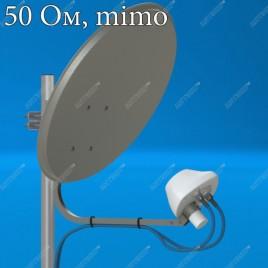 AX-1800 OFFSET MIMO 2x2 (N) - 50 ом  офсетный облучатель 4G (LTE1800)