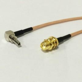 Пигтейл CRC9-SMA (female) - 1м - кабельная сборка