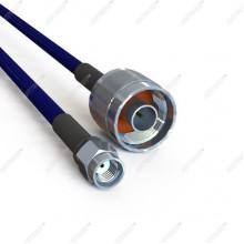 Кабельная сборка  N-male и RP-SMA-male 3 метров, кабель 5D-FB, 50 Ом