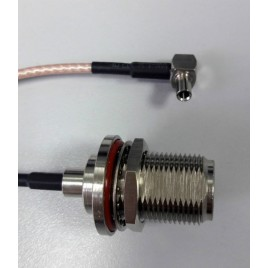 Пигтейл TS9 N (female) - 15 см - кабельная сборка