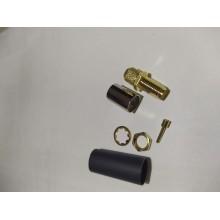 SMA - female ВЧ разъем SMA типа штекер (мама), обжимной, под коаксиальный кабель 5D-FB, пин под пайку.