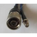 Кабельная сборка  N-male RP-sma-female 5 метров, кабель rg-58a\u, 50 Ом