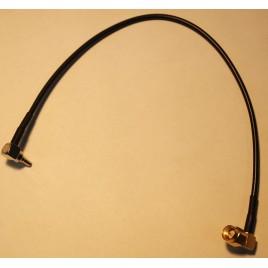 Пигтейл sma-male (угол) -  crc9 (угол) 15-20 см кабельный переходник