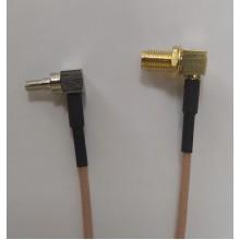 Пигтейл  CRC9-SMA (female) (угловой) - 15 см - кабельная сборка