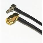 Пигтейл  CRC9-SMA (male) угловой - 15 см - кабельная сборка