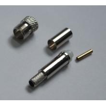 Разъем FME-female, обжимной,для коаксиального кабеля  RG-58, пин под пайку.